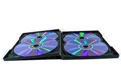 CD-ROM quatro em uma caixa negra Fotografia de Stock