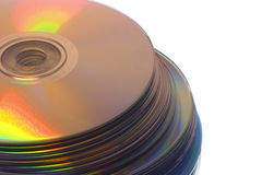Cd-Roms. Close-up of cd-roms Royalty Free Stock Photography