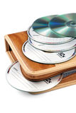CD-roms met zak Royalty-vrije Stock Afbeelding