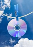 Cd on rope Stock Photos