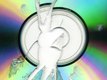 CD rotto/DVD immagini stock libere da diritti