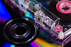 CD's And Audio Cassette Tape Stock Images