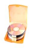 Cd's in cd case stock photo