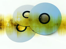 CD's Or DVD's 15. An image of what could be some DVD's or CD's Royalty Free Stock Photo