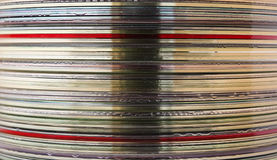 CD's tower detail. Suitable for backgrounds Royalty Free Stock Image