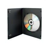 CD-schijf in doos Stock Afbeelding