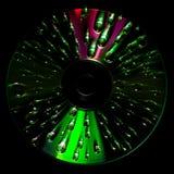 CD schijf met waterdalingen stock foto's