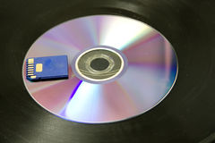 Cd and sd card stock photography