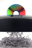 CD shredding binary Data Stock Image