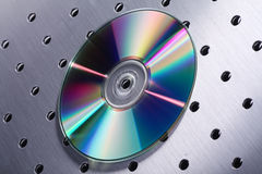 Cd on silver design Stock Photography