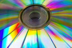 Cd skiva för abstrakt bakgrund med den defocused bilden Arkivbilder