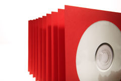 CD Sleeves. Stack of paper cd or dvd sleeves Stock Photography