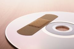 Cd with software patch Stock Photo