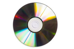 CD som isoleras på vit Arkivfoto