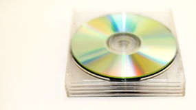 Compact discs in clear cases Royalty Free Stock Photos
