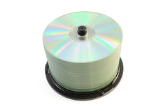 Cd stack. Stack of cd or dvd isolated on white background Royalty Free Stock Photography