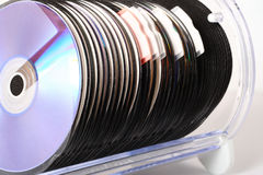 CD Storage. A row of cds royalty free stock photography