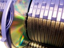 CD Storage unit. Photo of a blue Cd storage unit Royalty Free Stock Images