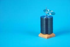 CD sull'azzurro Fotografia Stock Libera da Diritti
