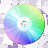 Cd Tech Shows Empty Space And Cd-Rw Royalty Free Stock Photography