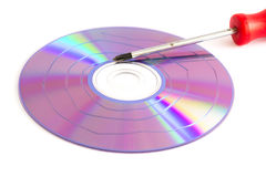 Cd. To destroy the security of data stock photo