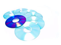 From cd to dvd Stock Photo