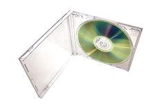 Cd with transparent box. Isolated Royalty Free Stock Photo