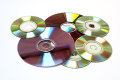 CD um fundo de DVD Imagens de Stock Royalty Free