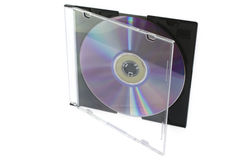 CD un disco en un rectángulo abierto Imagen de archivo libre de regalías