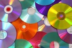 CD- und DVD-Hintergrund Stockfoto