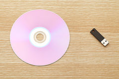 CD and USB drive royalty free stock images