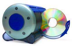 CD vakje en CD in open sectie Royalty-vrije Stock Fotografie