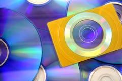 CD van de adreskaartjegrootte royalty-vrije stock afbeelding
