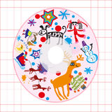 CD van de jonge geitjesdekking stock foto's