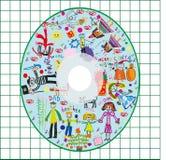 CD van de jonge geitjesdekking stock foto