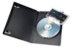 CD van de muziek en band Stock Foto's