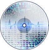 CD van de muziek met een abstracte achtergrond. Stock Fotografie