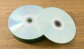 CD vide ou DVD dans la boîte de rangement Photo stock