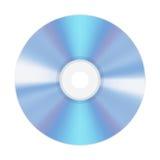 CD vide réaliste de disque compact ou DVD d'isolement sur un fond blanc Image libre de droits
