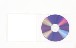CD viola nel caso libero immagine stock libera da diritti