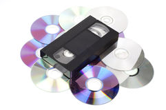 CD vs VHS. Stock Photography