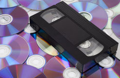 CD Vs VHS. Royalty Free Stock Photos