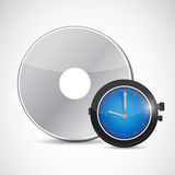 Cd and watch illustration design Royalty Free Stock Images