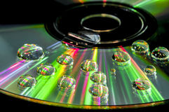 CD with water droplets Royalty Free Stock Photo