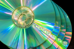 CD with water droplets. Stock pile of CD with water droplets Royalty Free Stock Photo