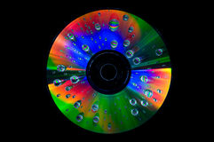 CD with water drops Royalty Free Stock Photos