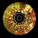 CD with Waterdroplets on Royalty Free Stock Photos