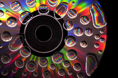 CD with Waterdrops Royalty Free Stock Photos
