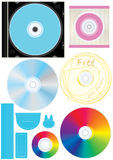 CD Wheel Colors_eps Stock Images