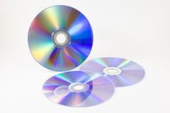 CD on white background royalty free stock photography